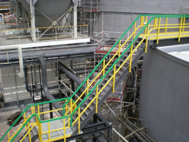 Corrosion Resistant F R P Stairs and Railing in Chemical Plant